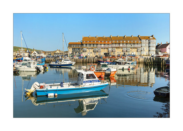 Boats in West Bay harbour, Dorset