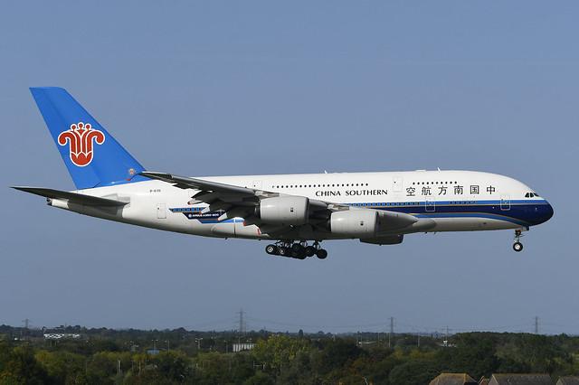 B-6136 Airbus A380-841 EGLL 17-09-20