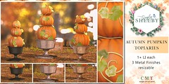 Simply Shelby Autumn Pumpkin Topiaries
