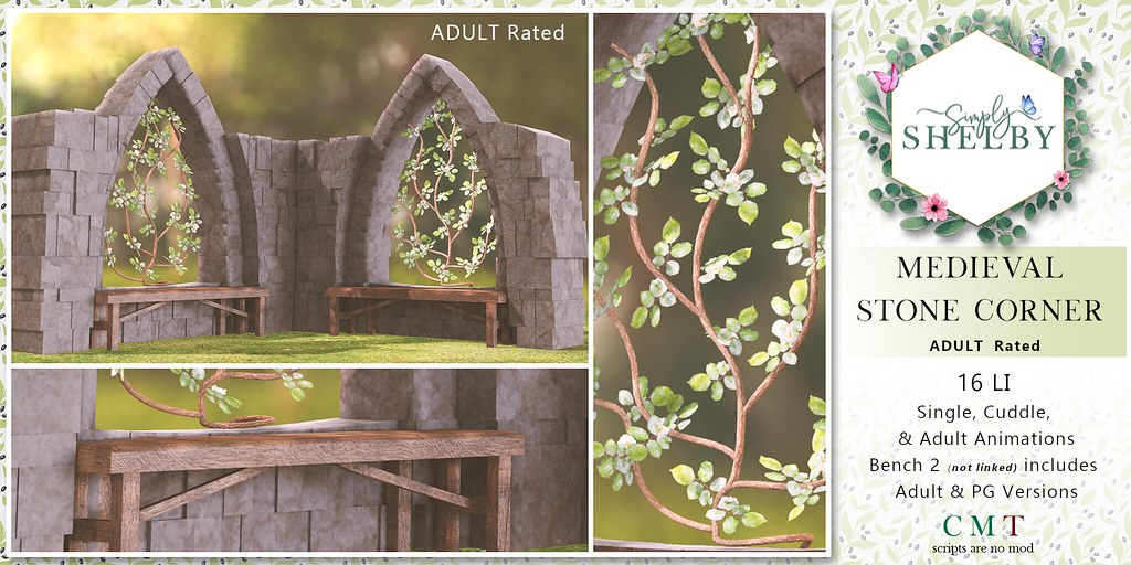 Simply Shelby Medieval Stone Corner Adult