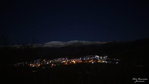 sony sonyalpha sonya6000 night town mountain snow lights
