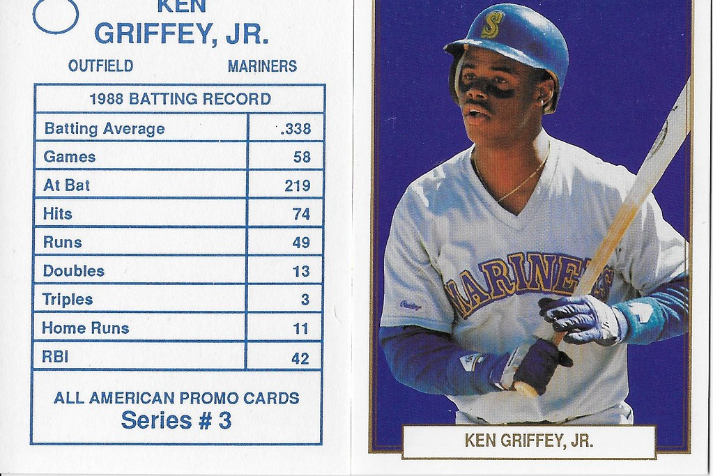 1989 All-American Promo Cards Series 3 #06 (No # on back variation) -Griffey Jr
