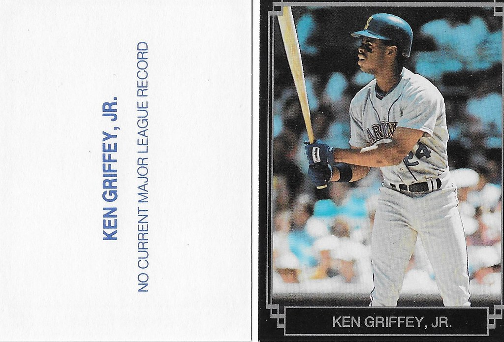 1989 Broder Type - Black with Silver Frame #NNO (gray jersey white bat no sleeves) - Griffey