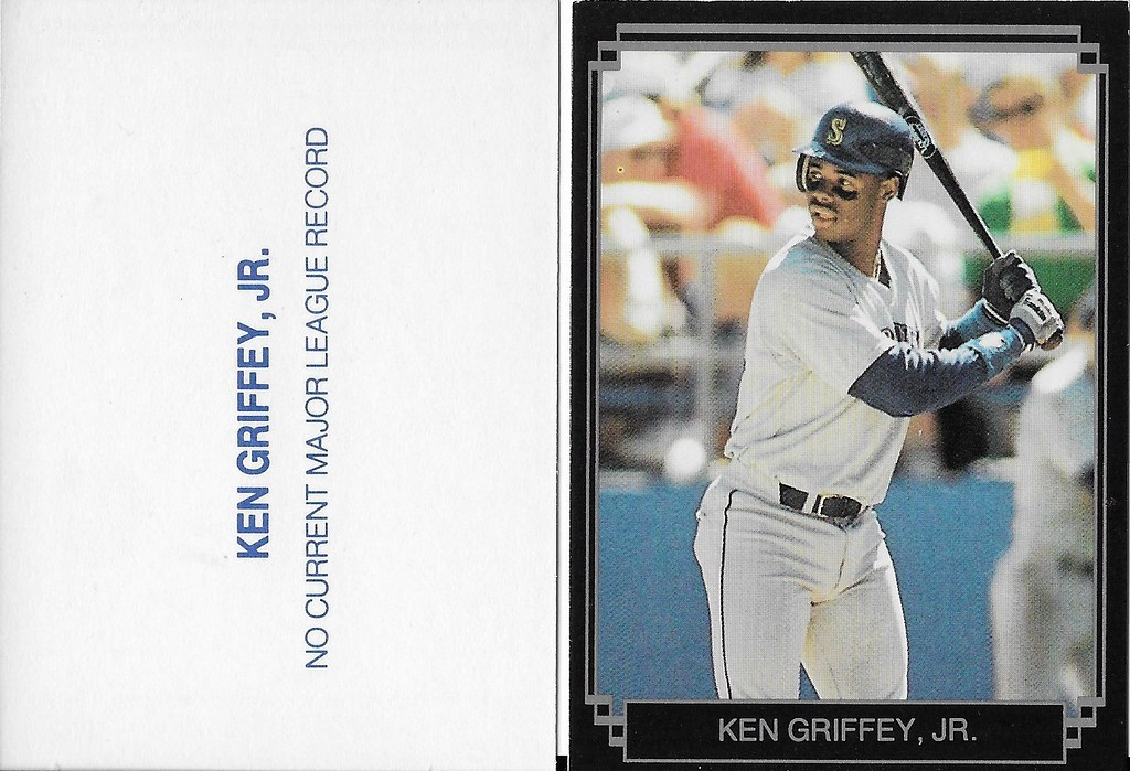 1989 Broder Type - Black with Silver Frame #NNO (gray jersey black bat) - Griffey