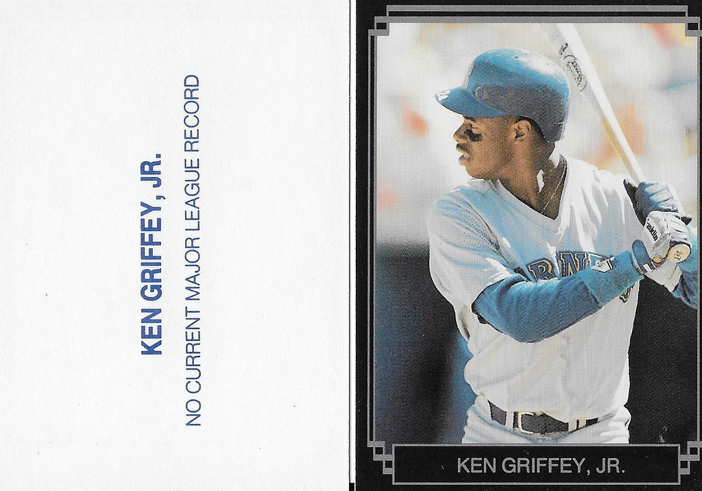 1989 Broder Type - Black with Silver Frame #NNO (gray jersey white bat with sleeves) - Griffey