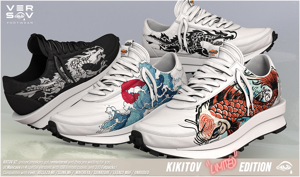 [ Versov // ] KIKITOV LIMITED EDITION SNEAKERS available at MAN CAVE