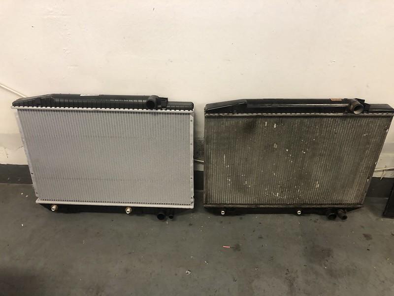 W126 radiator removal