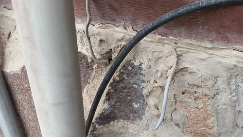 Wiring Cast in Cement