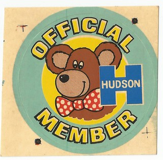 1970s Hudson Cookie Bear Club Sticker - New Zealand