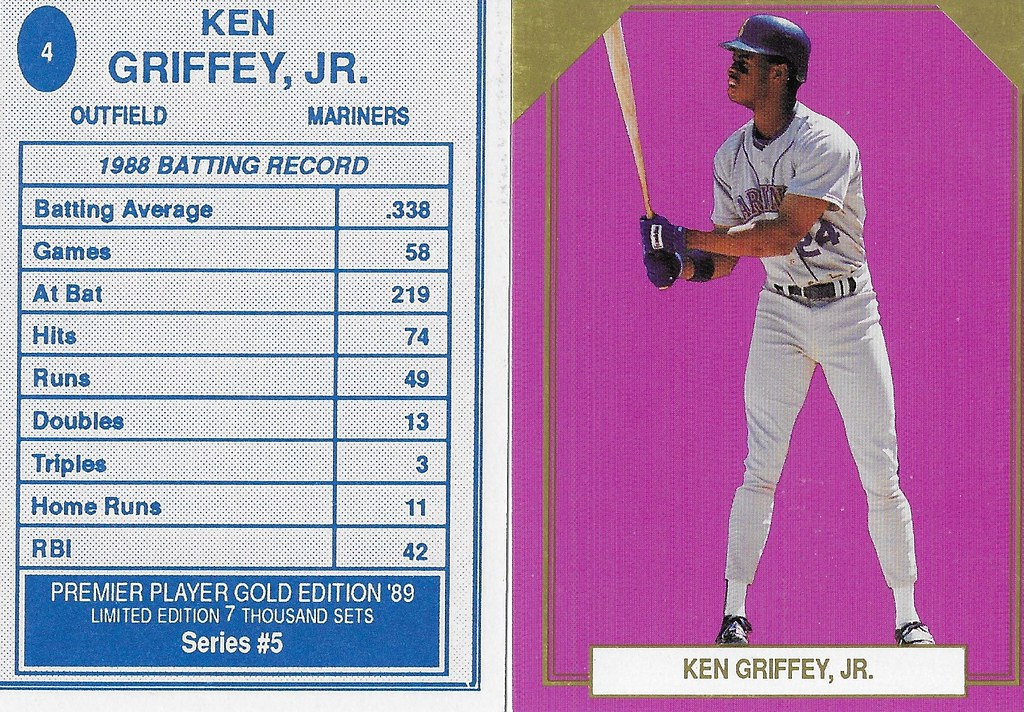 1989 Premier Player Series 5 Gold Edition #04 - Griffey Jr