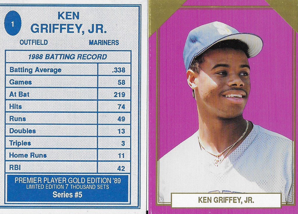 1989 Premier Player Series 5 Gold Edition #01 - Griffey Jr