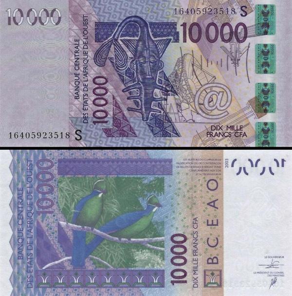 10 000 Frankov Guinea Bissau (WAS) 2016, P918Sp