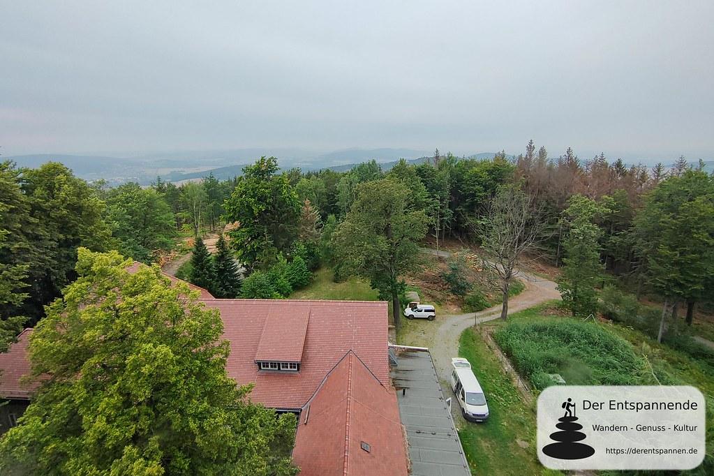 Aussicht vom Turm - Berggasthof Czorneboh