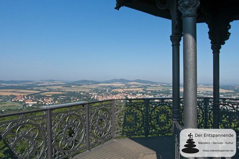 Ausblick vom König-Friedrich-August-Turm auf dem Löbauer Berg