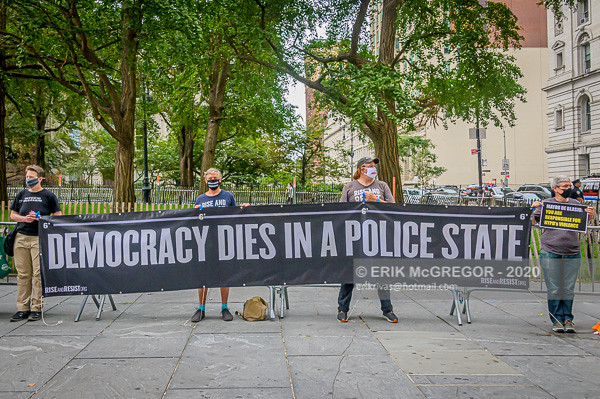 Democracy Dies In A Police State protest