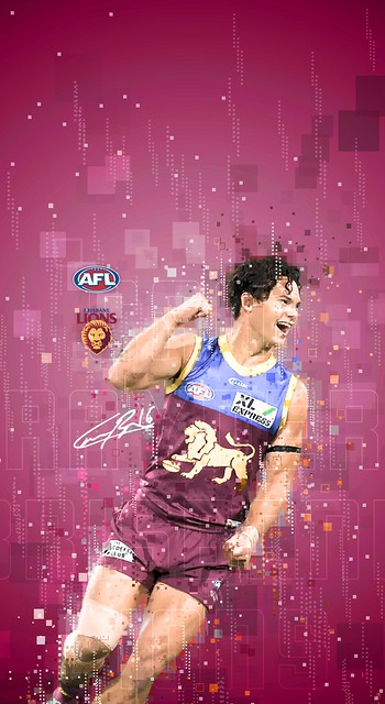 #16 Cam Rayner (Brisbane Lions) iPhone X/11/Android Wallpapers