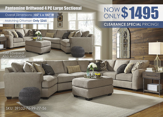 Pantomine Driftwood 4 PC Large_Sectional_39102-76-99-77-56-08-T913-3