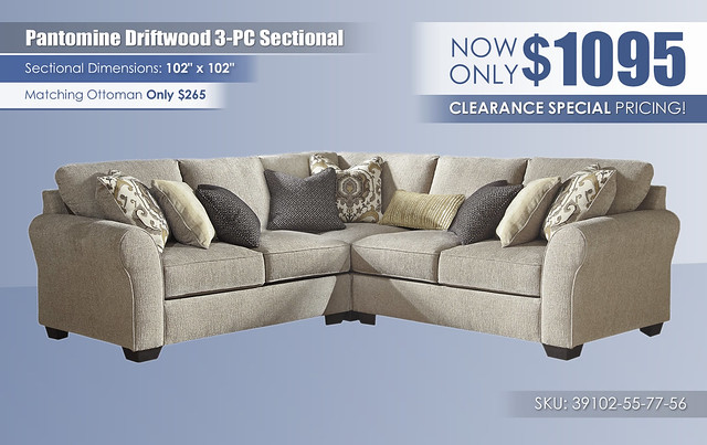 Pantomine Driftwood 3PC Sectional_39102-55-77-56-SW