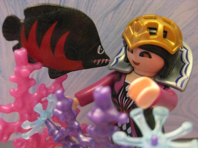 Ginerva and her Pet Piranha