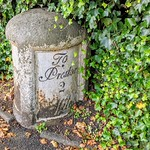 Old milestone on Garstang Road in Preston