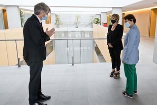 Reunió de les Síndiques amb l'ambaixador de la Francesa, Sr. Jen-Claude Tribolet. 18/09/2020