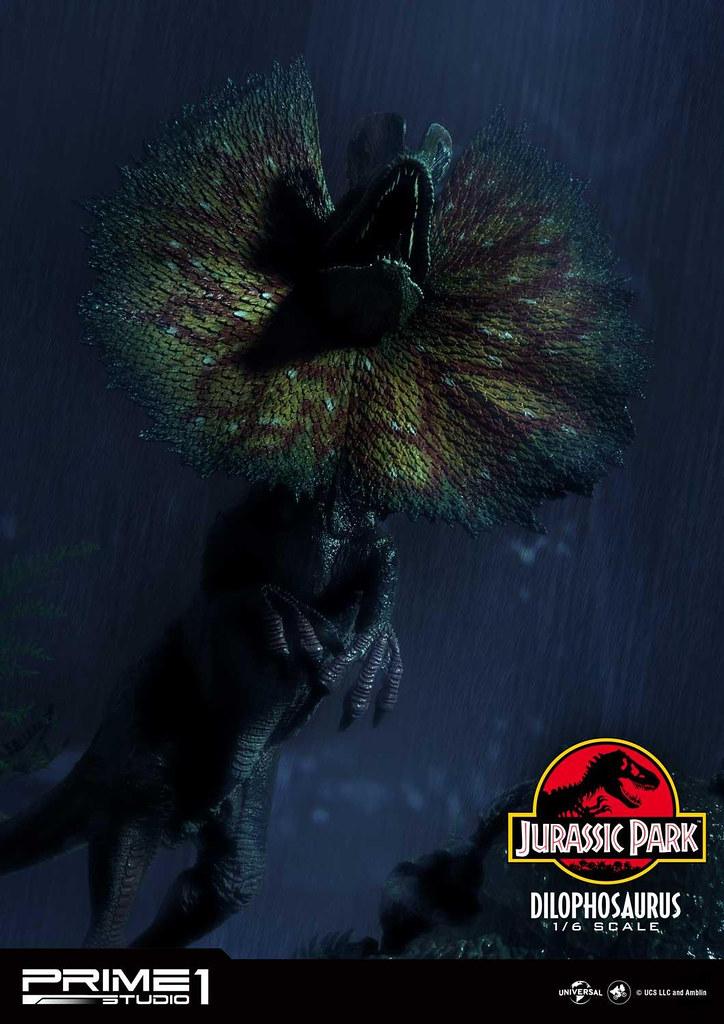 Prime 1 Studio《侏羅紀公園》雙冠龍 1/6比例場景雕像 BONUS版本