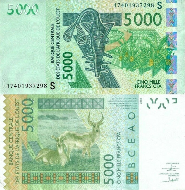5000 Frankov Guinea Bissau (WAS) 2016, P917Sp
