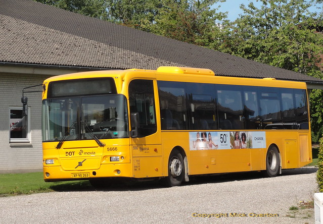 Volvo B7RLE ARRIVA 5666 lives a quiet life 60km from Copenhagen although some its batch were burnt out when almost new in an arson attack