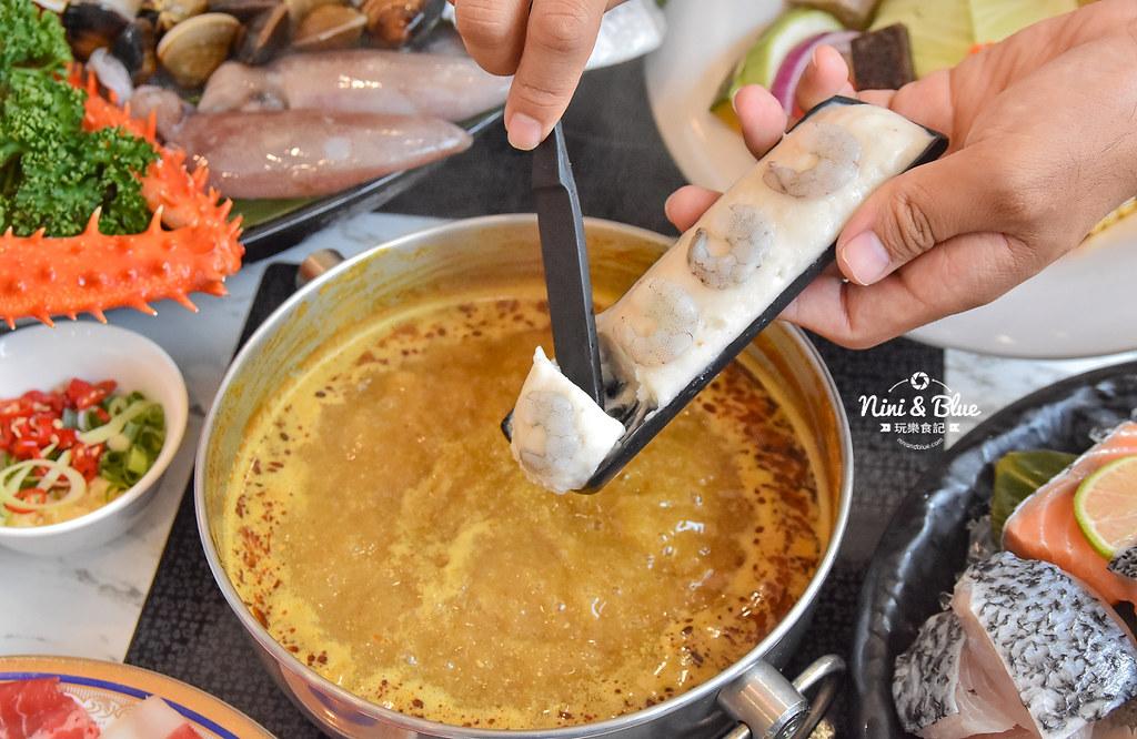 拉克薩 菜單 台中火鍋海鮮帝王蟹 新加坡叻沙34