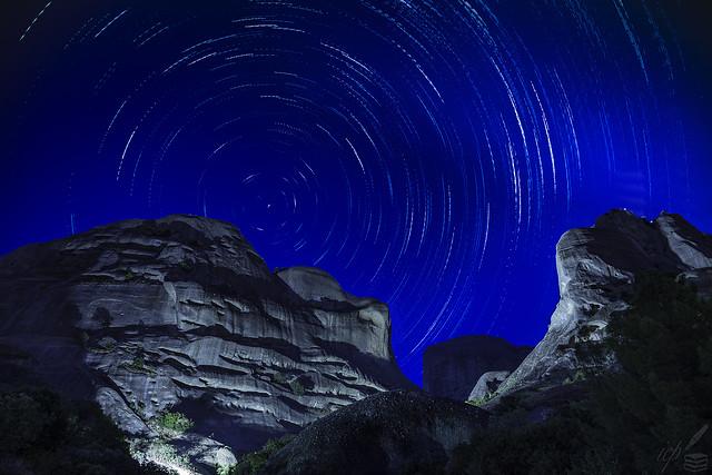 Star Trails Over Meteora, Greece