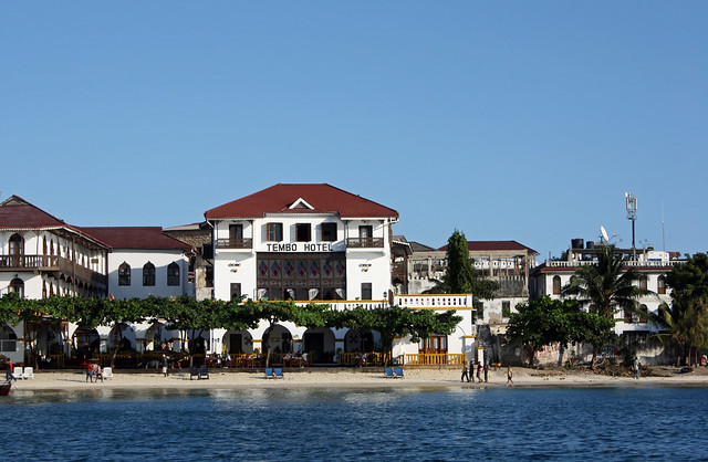 27. View Of Tembo Hotel, Departing On Sunset Cruise, Stone Town, Zanzibar, Tanzania
