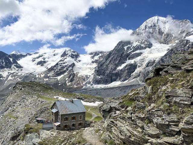 Un rifugio sulle Alpi