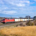 152 132 (DB Cargo) mit KT 42101 (Leipzig Wahren - München Nord Rbf - Marcianise) | 04.03.2020 | Paindorf