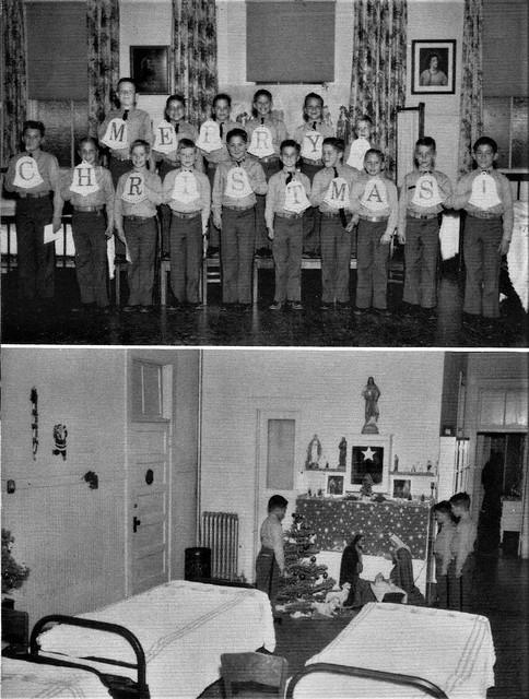 Christmas at St. Johns Military Academy Chatsworth 1962 Los Angeles, CA