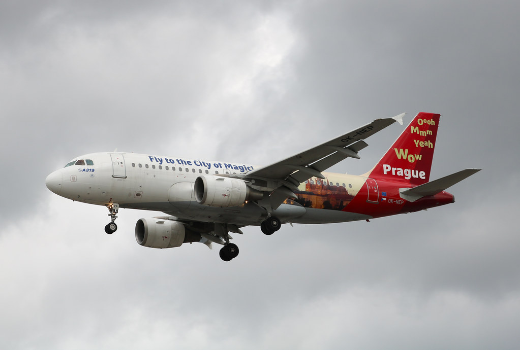 OK-NEP Airbus A319-112 Czech Airlines - Prague Livery