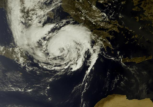 Storm Ianos approaching Greece
