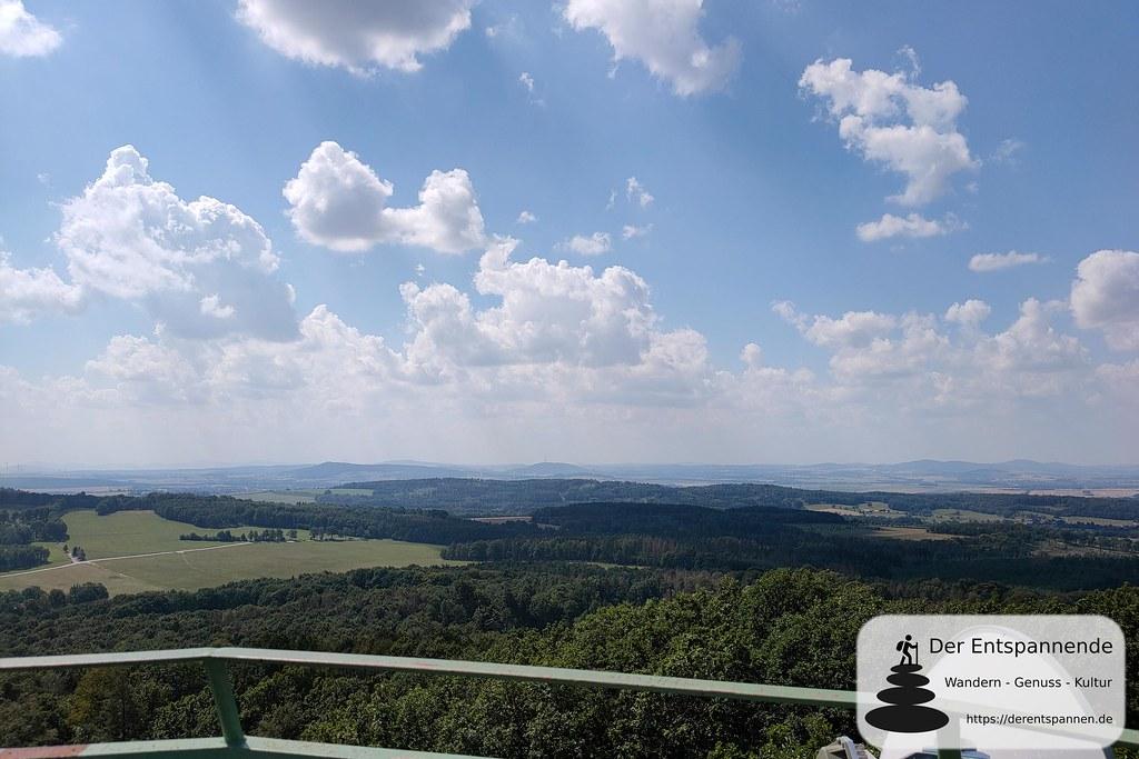 Aussicht vom Turm auf dem Hochstein bei Königshain