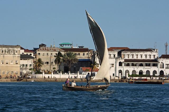 2. View, Departing On Sunset Cruise, Stone Town, Zanzibar, Tanzania