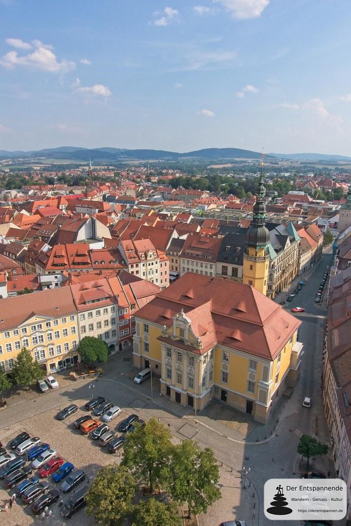 Blick auf das Rathaus von Bautzen