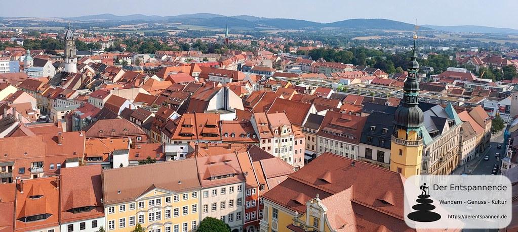 Blick auf Bautzen mit Reichenturm, Rathaus