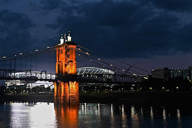 Blue Hour Ohio River