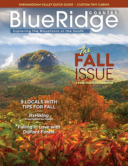 Blue Ridge Parkway Mountain Landscape Looking Glass Rock Asheville NC Magazine Cover