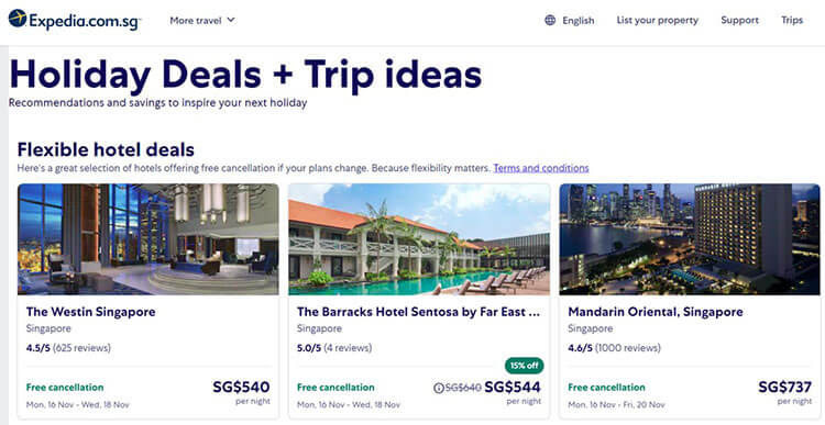 weekend staycation deals in Singapore