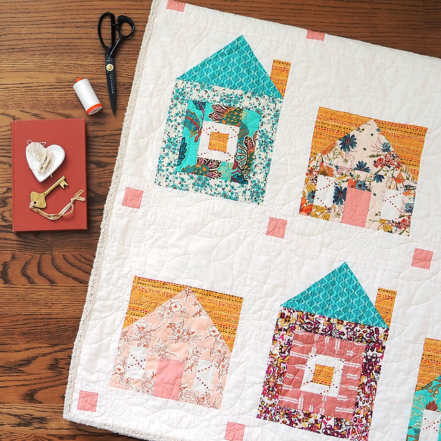Chenille-It bound Home Sweet Quilt