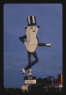 Mr. Peanut sign (Hair Affair sign), (closer view), Route 6, Swansea, Massachusetts (LOC)