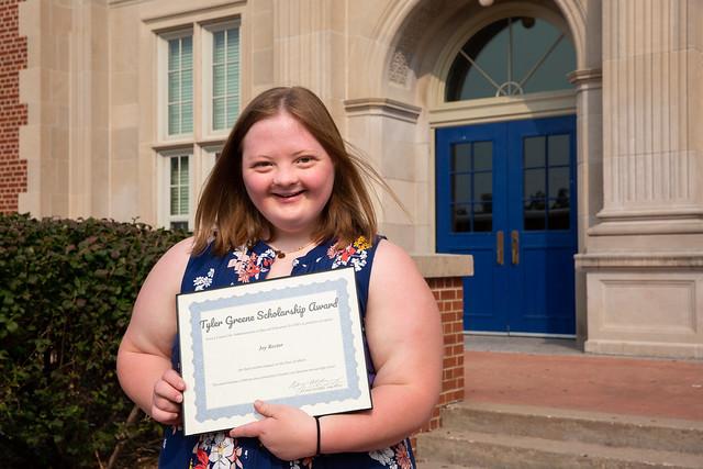 Joy Wins Tyler Green Scholarship