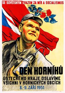 K. S.  Den Horníků [Miner's Day], 1951.