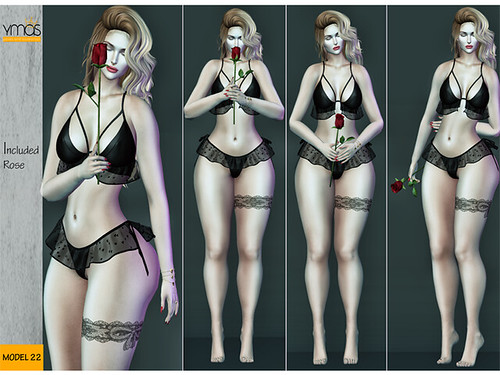{Ymas Poses} Pack Rose