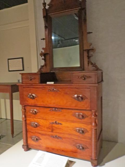 Cherry Dresser With Mirror.