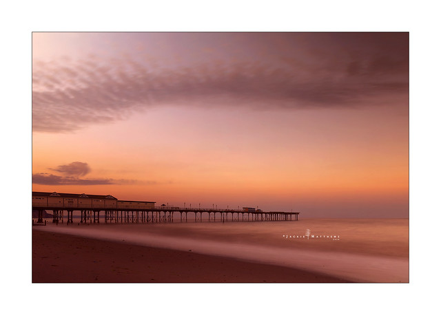 Teignmouth pier at sunset ...